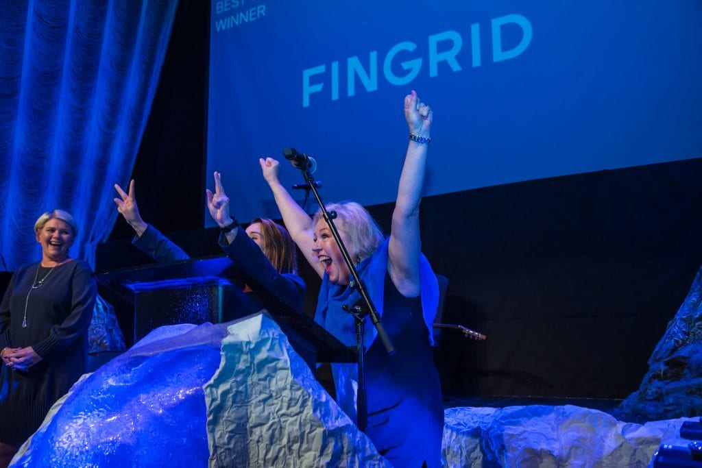 Fingrid representatives on stage
