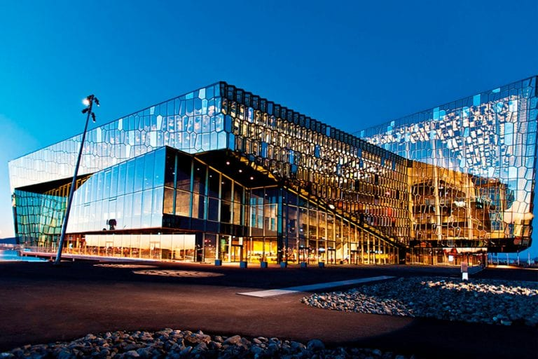 Harpa Conference hall. The venue for CHARGE Academic
