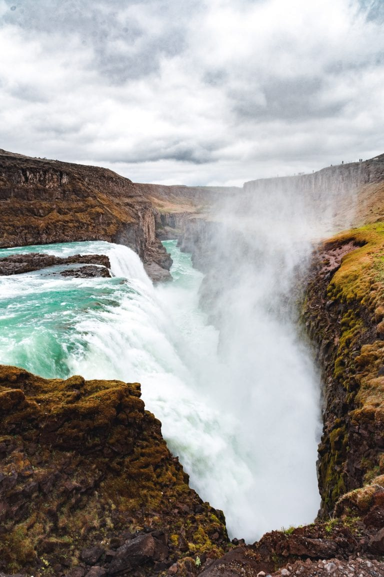 Gullfoss waterfall is one of the elements in the golden circle