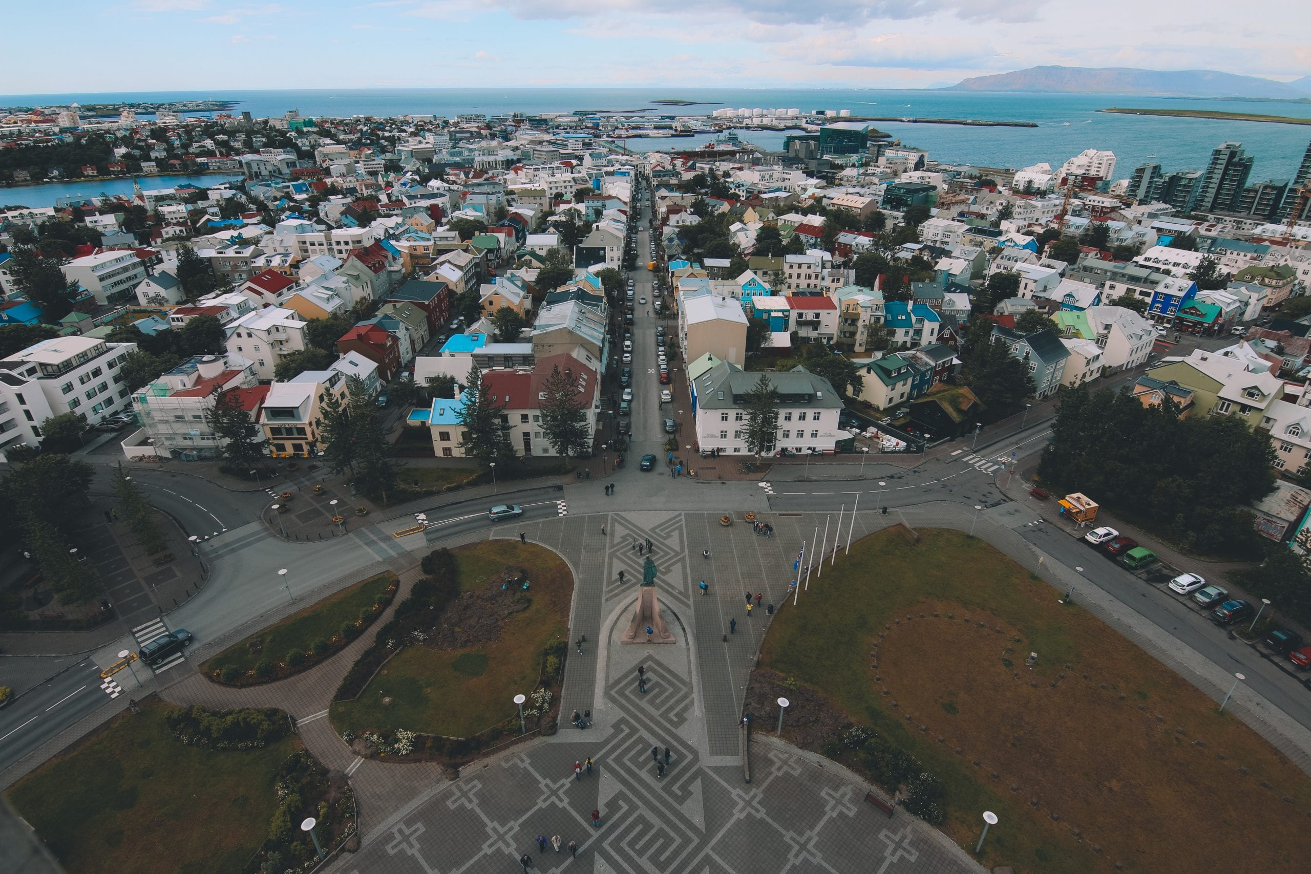 Reykjavik from Hallgrimskirkja tower